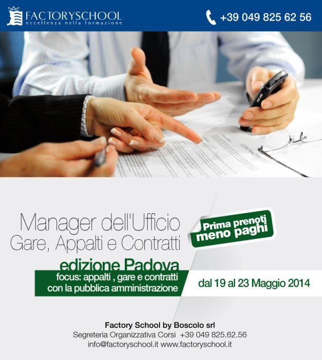 Corso Appalti Gare e Contratti   Padova Edizione 9