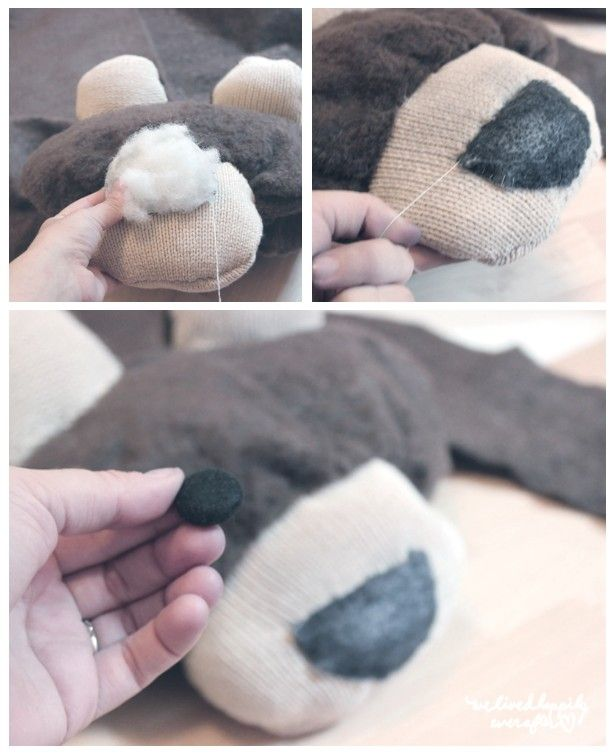 Make Your Own Bear Rug For 6 Pattern Tutorial We Lived Happily Ever After Bear Rug Bear Skin Rug Nursery Bear Rug