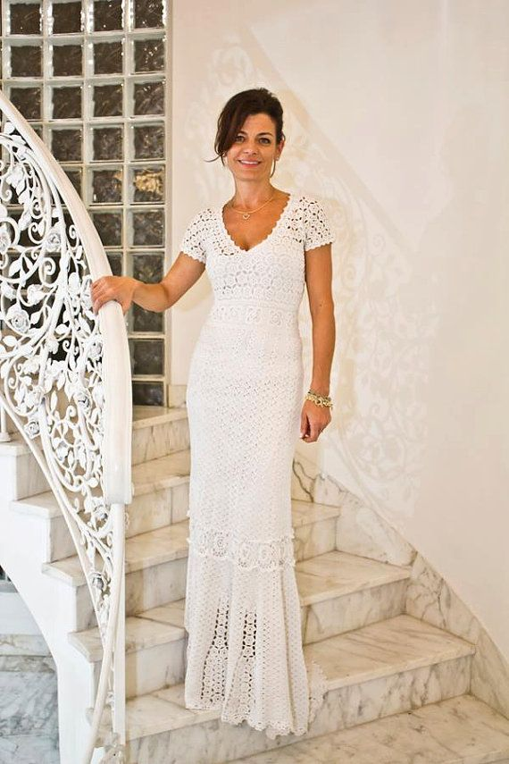 Crochet Dress custom made hand made MADE TO by Irenastyle, $800.00