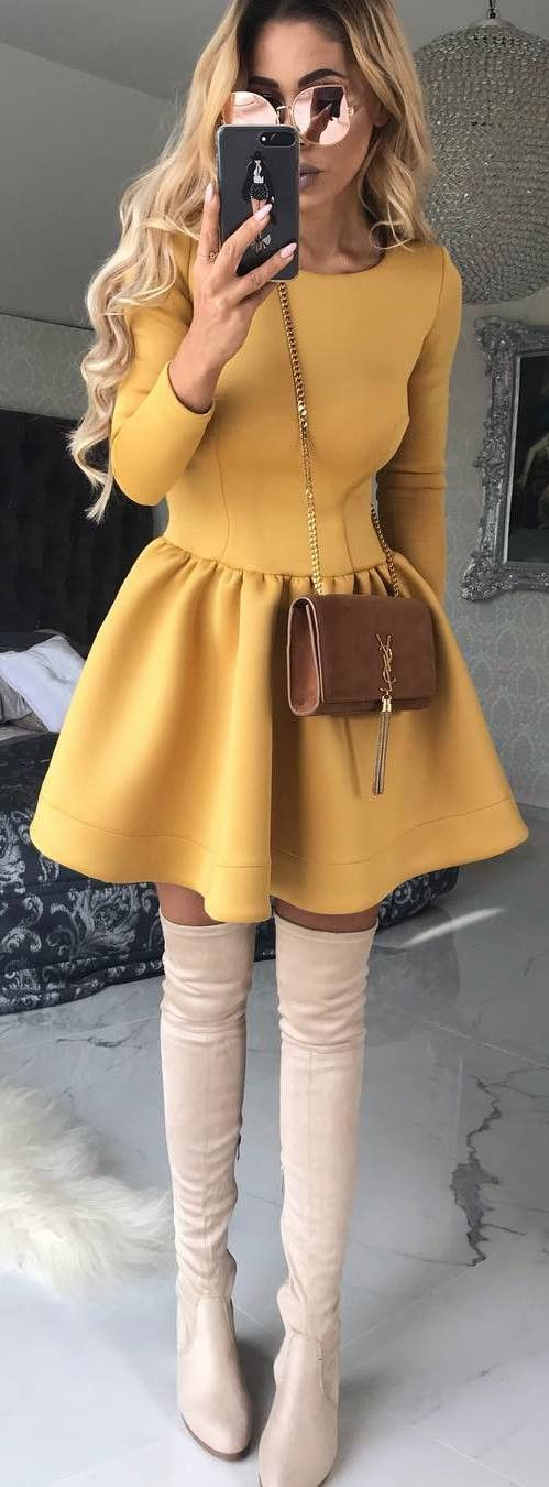 beautiful yellow dress for days when you want to look cute with out trying