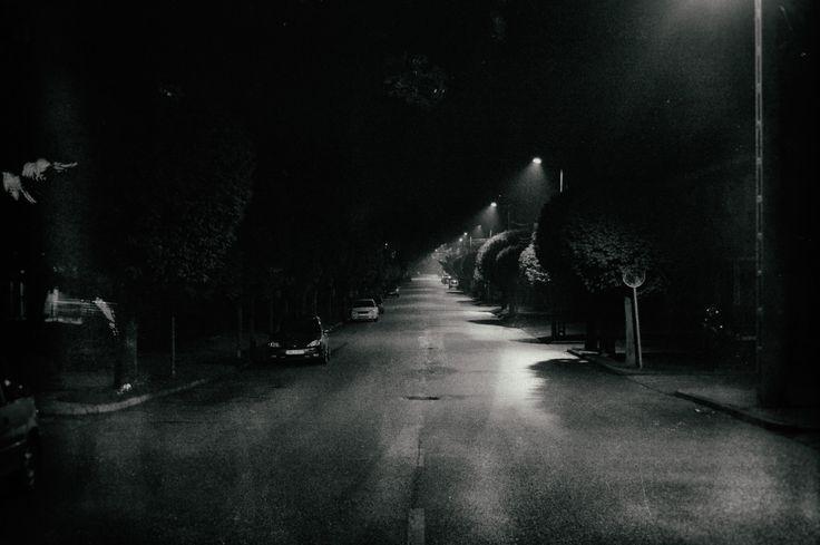 Dark street.