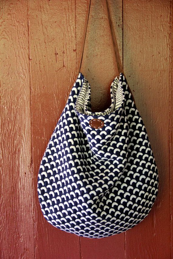 vintage eco friendly slouch bag purse ooak  by leileialoha on Etsy, $200.00
