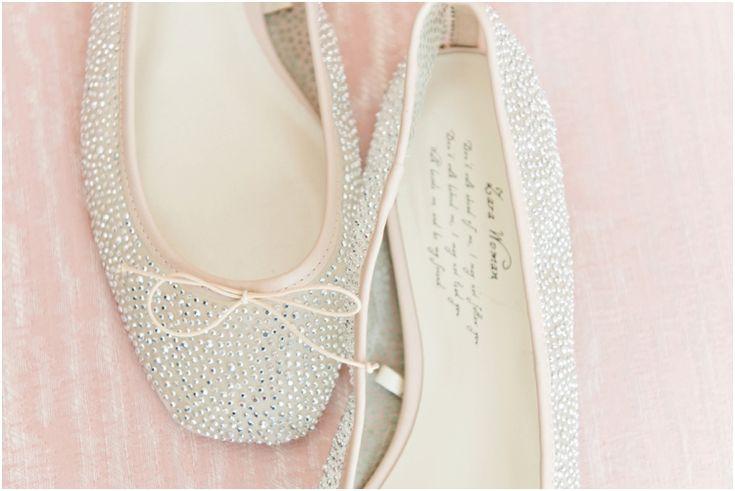 Wedding shoes, ballerina pumps, wedding flats