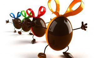 čokolády, balónky, tanec, stuhy, legrační