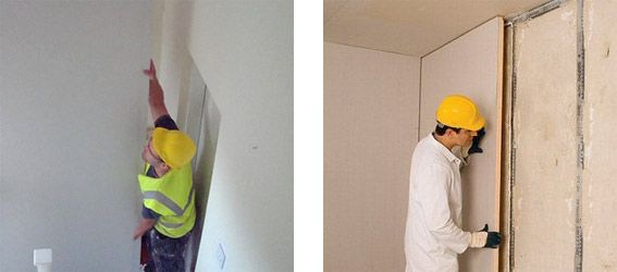 Internal wall insulation works by adding a thermal layer of material to the existing wall.