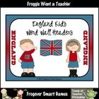 Perfect for teachers in England to use in their classrooms. You will receive a 20 page ebook. Word Wall Headers feature adorable England Kids graph...