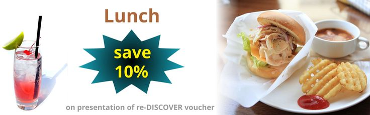 SAVE 10% at Barbados restaurants! Remember to pick up your FREE re-DISCOVER lunch voucher in the Arrivals Hall at the airport or pre-order online.