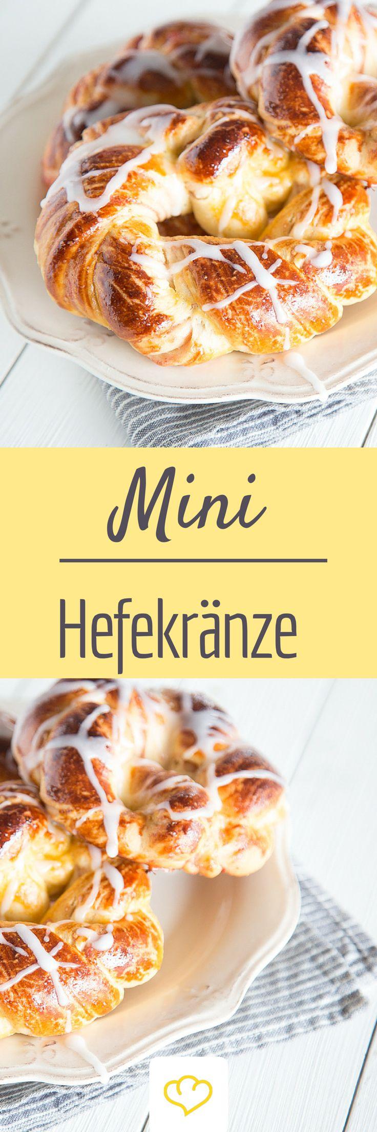 Kleine Seelenwärmer: Mini-Hefekränze mit Marmeladenfüllung