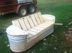Reuse a rusted out Galvanized stock tank