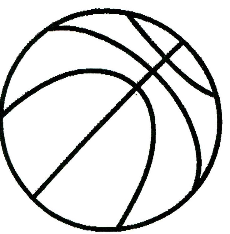 Printable basketball drawing