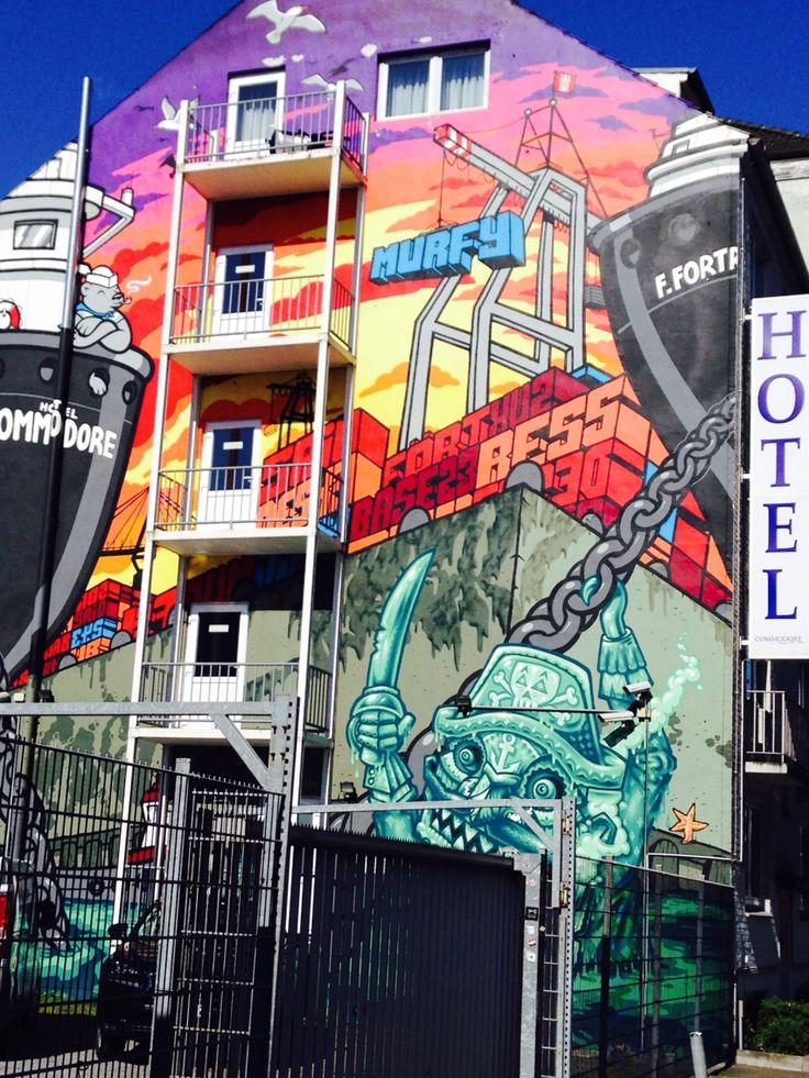 Vivid colourful Hamburg