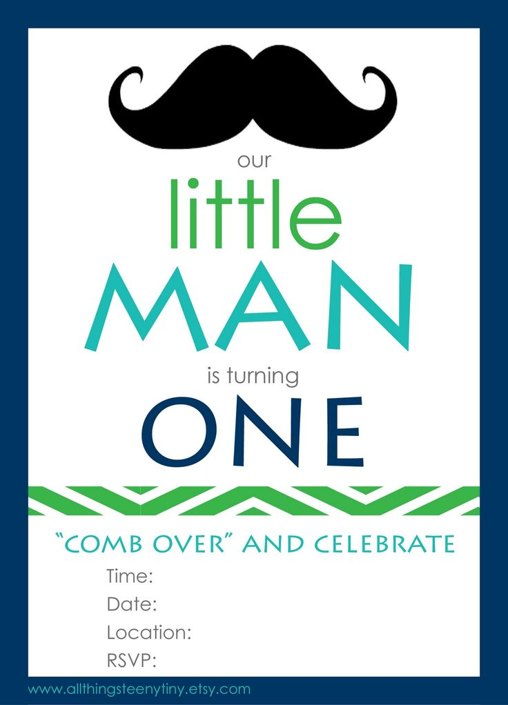 Birthday first birthday little man free printables birthday party