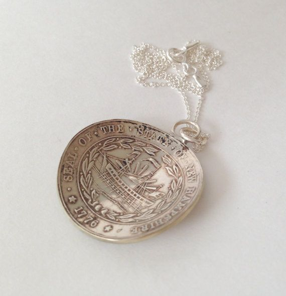 New Hampshire Necklace New Hampshire Spoon by GeorginaBaker, $48.00