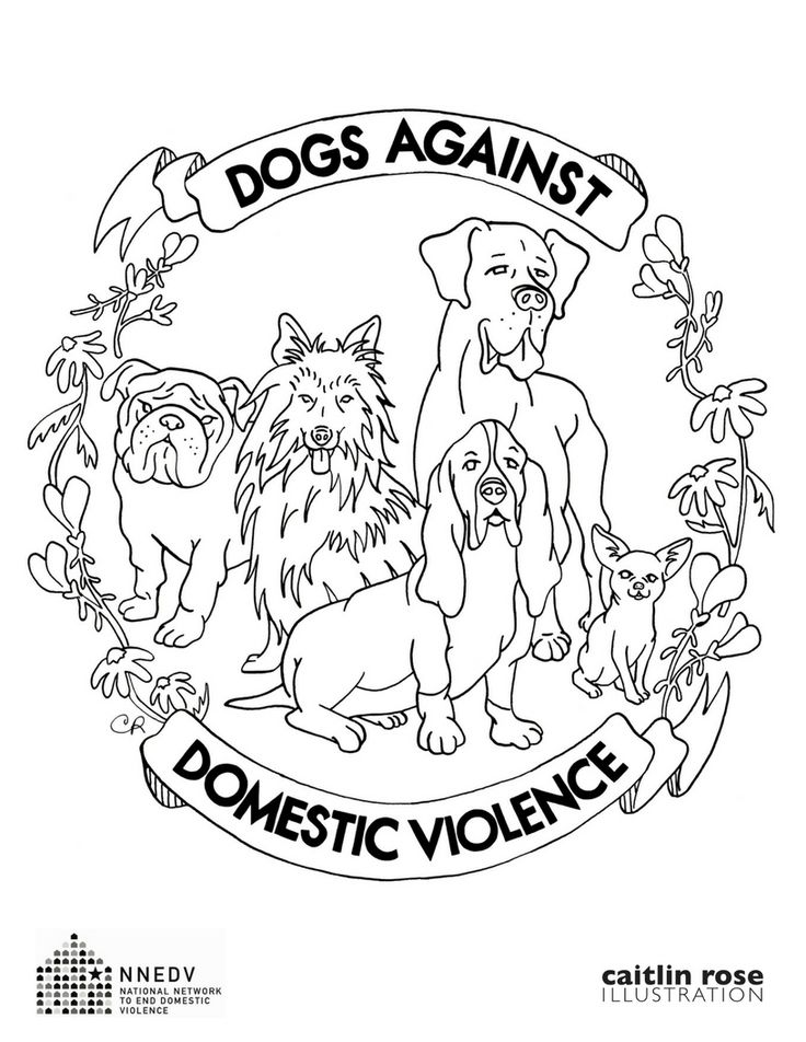 Download The Whole Series Nnedvorg GetInvolved DogsAgainstDomesticViolence Kids Coloring PagesDomestic