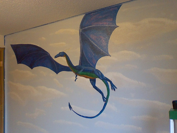33 best images about stuff to buy on pinterest magic for Dragon mural for wall