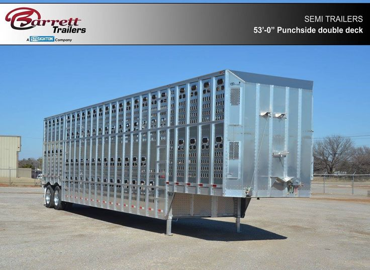 Punchside Double Deck semi trailer for livestock