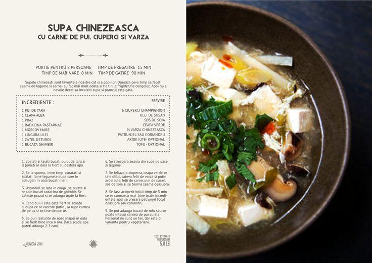 Supa Chinezeasca de Pui, Ciuperci si Varza