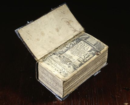 Cromwell's Family Bible - 16th Century - In the margins appear the autographs of Anna Cromwell, Carina Cromwell, Henry Cromwell, Elizabeth Cromwell, and Richard Cromwell.