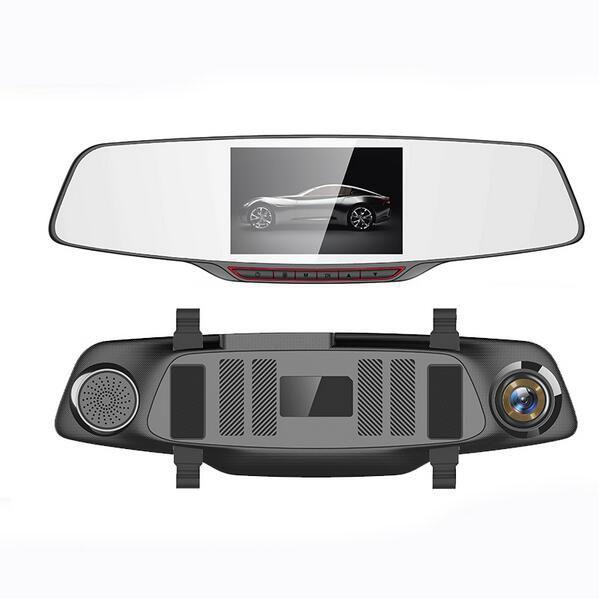 """H802 Hindly Автомобиля Детектор Автомобильный ВИДЕОРЕГИСТРАТОР Зеркало Заднего Вида 5.0 """"IPS Сенсорный Заднего Вида Full HD 1080 P Парковка Видео Dual Camera Recorder"""