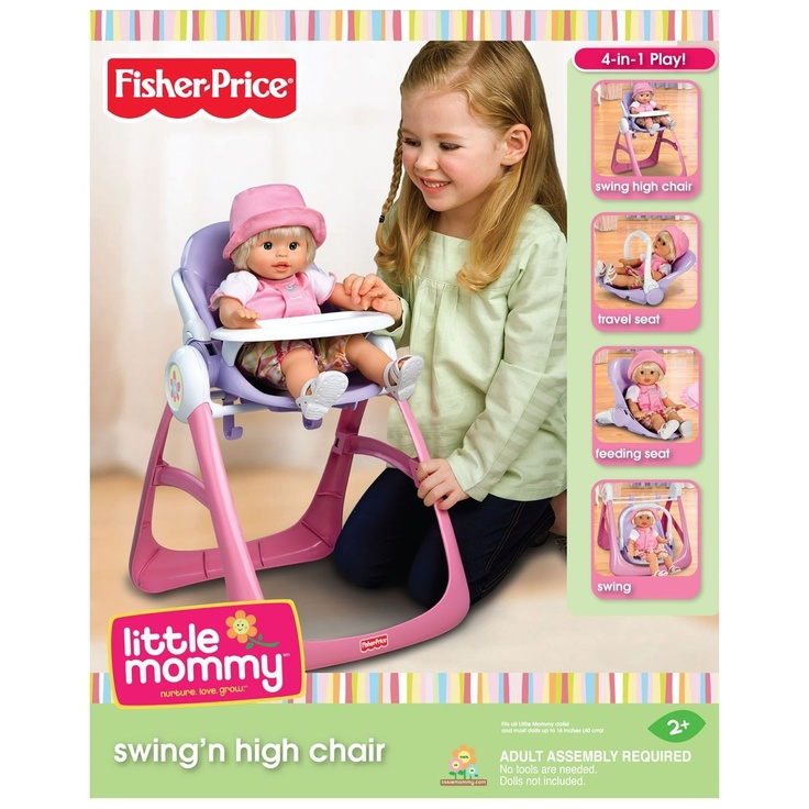 little mommy high chair and swing 3