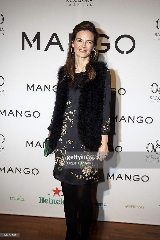 Maria Garcia de la Rasilla y Gortazar attends the Mango fashion show as part of the 080 BCN Fashion Week Fall/Winter 2012-2013 show on January 26, 2012 in Barcelona, Spain.