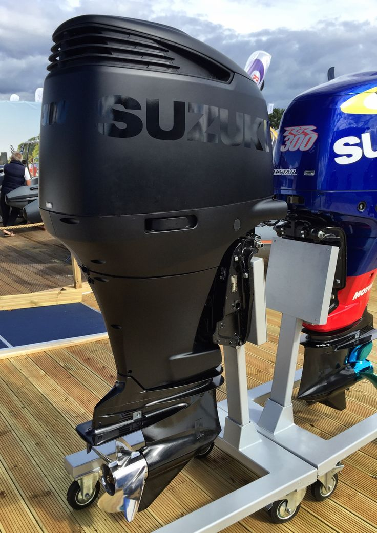 Custom Matt Black Suzuki 300 Outboard