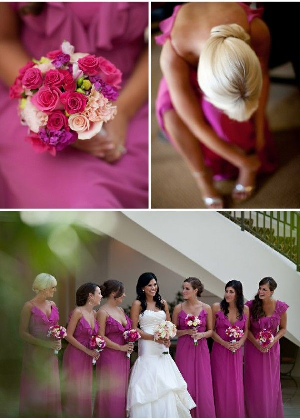 There is something about the vibrant raspberry pink bridesmaid dresses combined with the subdued gray tuxedos that makes me absolutely love this wedding! Inspired by the Elizabeth Arden Pretty perfume ad campaign, Danielle wanted a wedding that was prettier and more romantic than regular day life. After all, she and her groom spend most of …