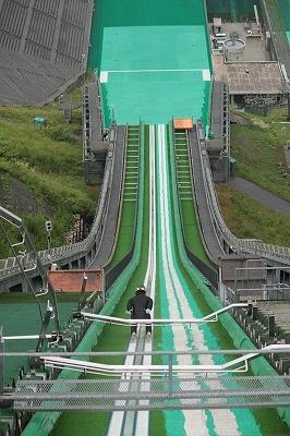 Olympic Jumping slope at Hakuba.
