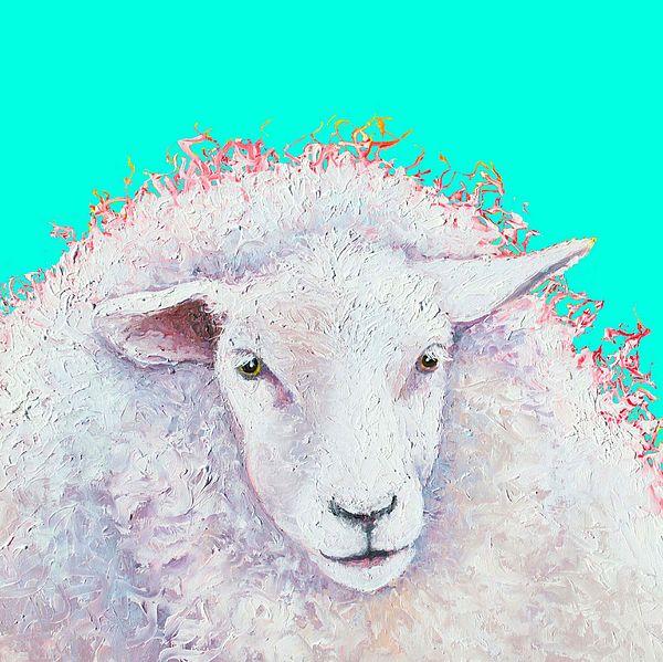 Woolly white sheep!  #kitchenwallart #kitchenprints #countrykitchen