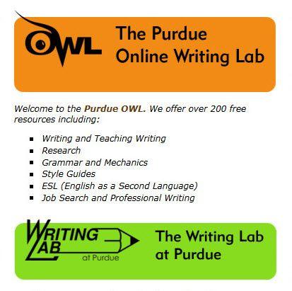 OWL Purdue Online MLA Writing Lab   Modern Languages Association   Pi ...