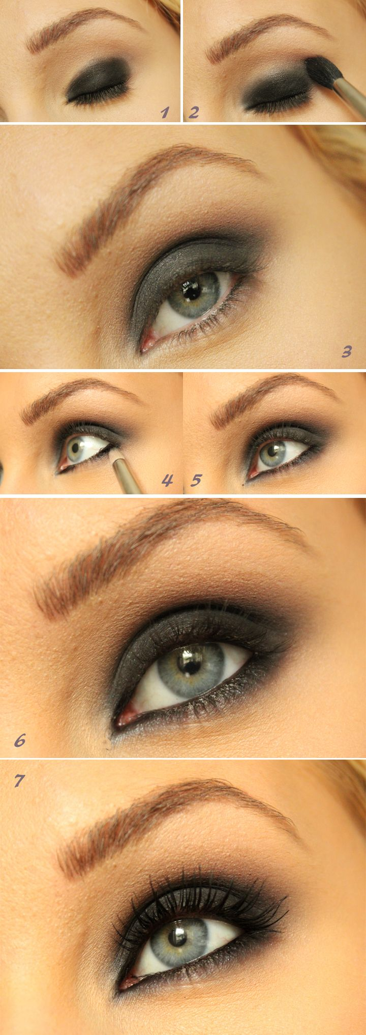 SMOKEY EYE TUTORIAL! (A very detailed version) | Helen Thurs farm - Hiilens makeup blog