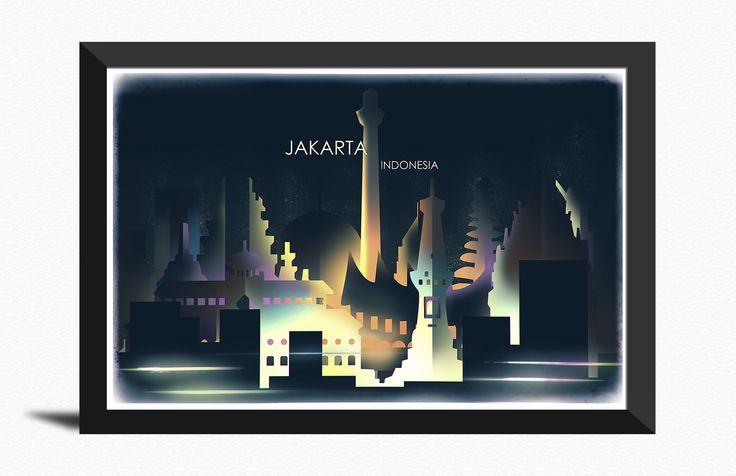 City Skyline of Jakarta | 99designs