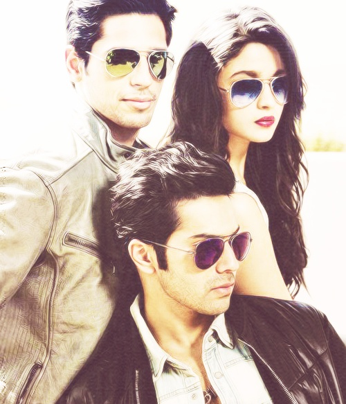 Siddharth Malhotra, Varun Dawan and Alia Bhatt