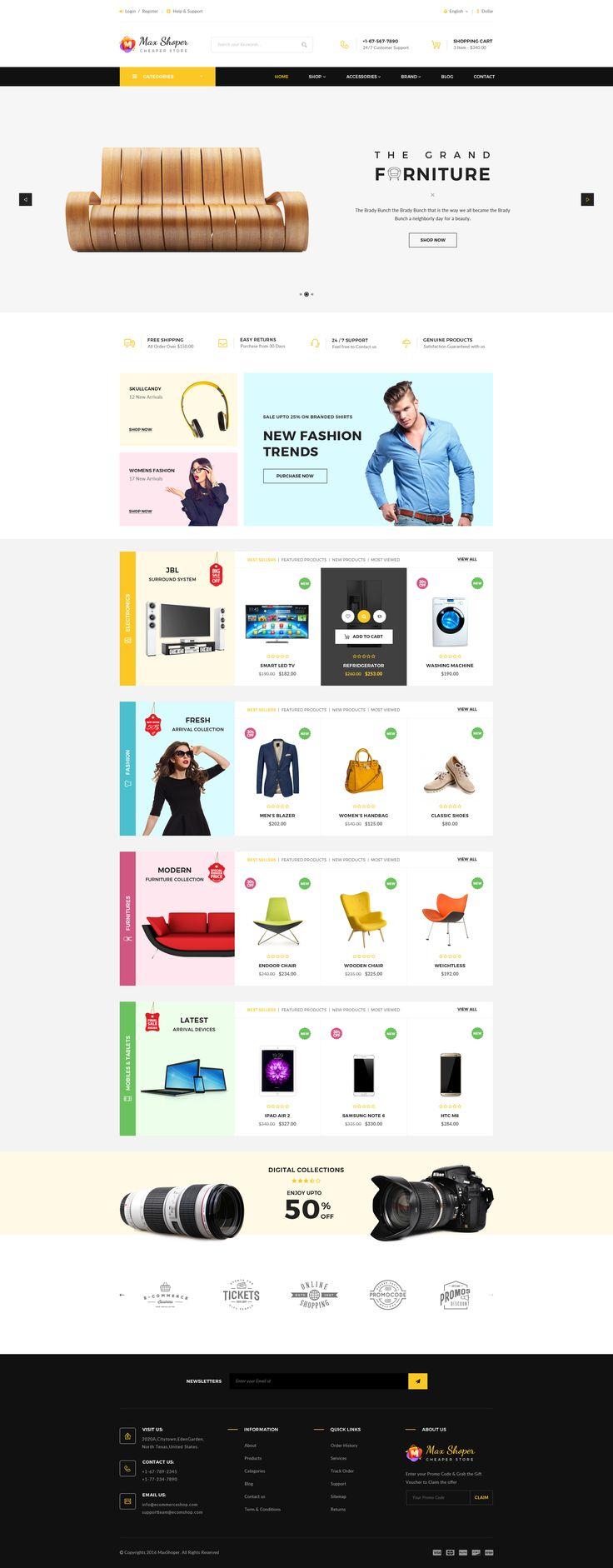 Max Shop - E-Commerce PSD Template • Download ➝ https://themeforest.net/item/max-shop-ecommerce-psd-template/16692740?ref=pxcr