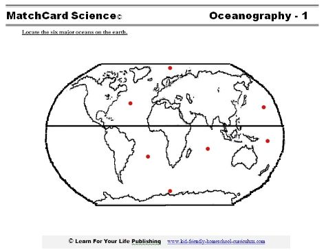 Learn the six majors oceans with our map of the oceans.