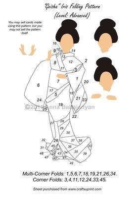 Geisha Iris Folding Pattern ( Advanced Level )