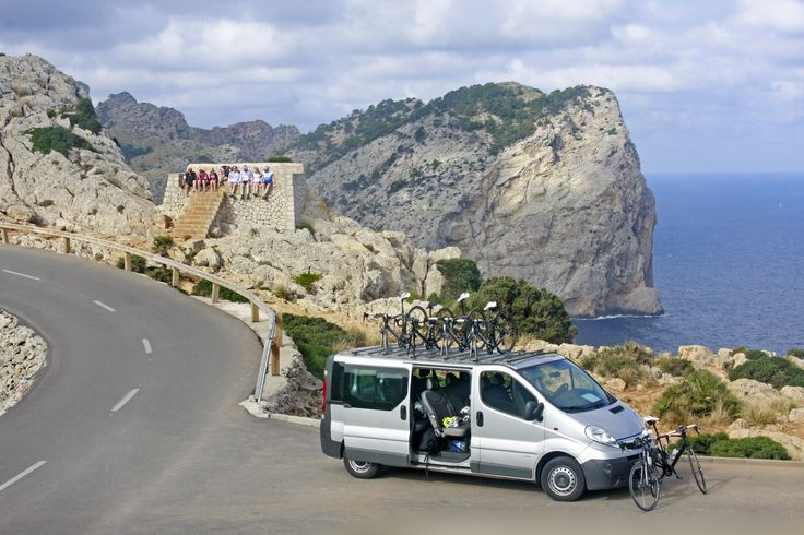 A lunch break during the cycling. Cycling in Mallorca.