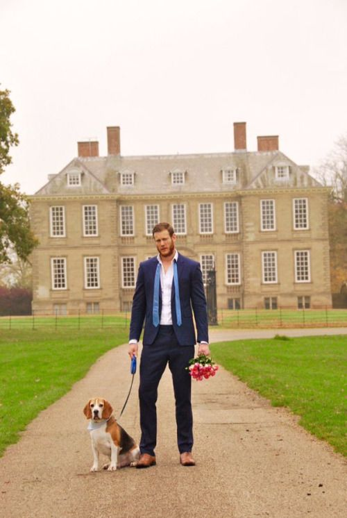 Photoshoot for a good cause: Tom Hopper for Rescue Dog calendar  The Love DOG Project