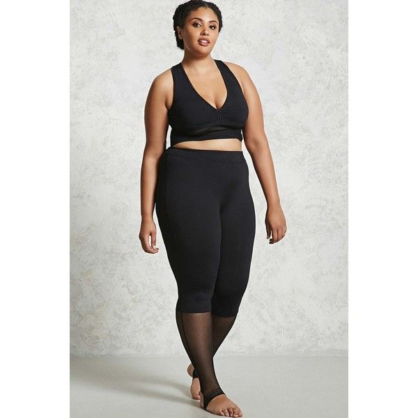Forever21 Plus Size Mesh Insert Leggings ($20) ❤ liked on Polyvore featuring plus size women's fashion, plus size clothing, plus size pants, plus size leggings, black, cutout pants, mesh inset leggings, elastic waistband pants, elastic waist pants and legging pants