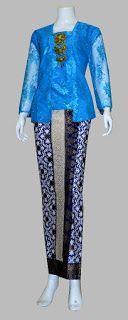Baju Batik Modern (Dina Collection): D1735 Setelan rok+blus bruklat