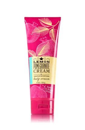 Lemon Pomegranate Cream Bath & Body Works Triple Moisture Signature Collection Body Cream |