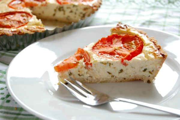 Enjoy this amazing tomato basil pie with parmesan rosemary crust ...