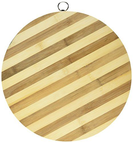 kole oc842 round bamboo cutting board regular