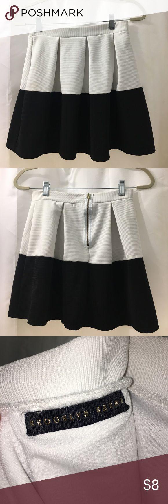 Brooklyn Karma black and white mini skirt size M Brooklyn Karma Black and White mini skirt size M brooklyn Karma Skirts Mini