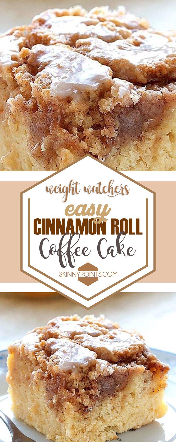 Easy Cinnamon Roll Coffee Cake #weightwatchers #cinnamon #roll #coffee