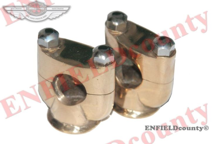 """RISERS UNITS 1"""" HANDLEBAR CUSTOM MADE BRASS MADE FOR MANY MOTORCYCLE"""