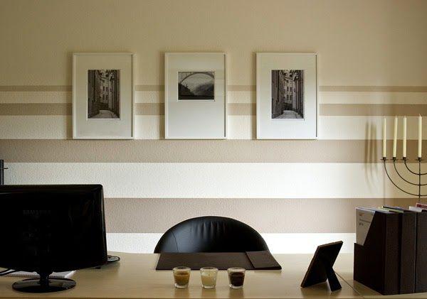 """Résultat de recherche d'images pour """"peindre bande verticale beige  mur"""""""