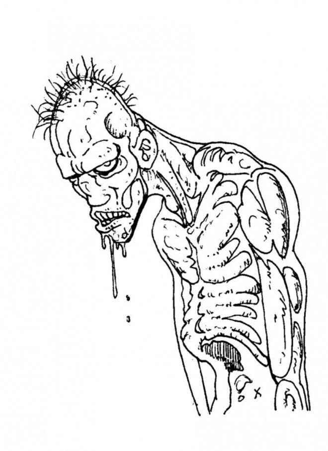 Monstre Qui Fait Peur Dessin : monstre, dessin, MUHAMMADIYAH, KABUPATEN, BONE:, Coloriage, Zombie