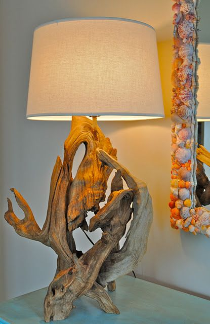 Super cool driftwood lamp