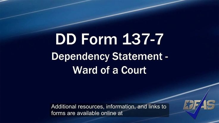 Ward Of A Court Dd Form   Analicia    Purpose